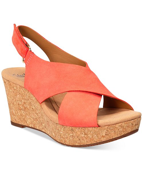003c52fd3ac Clarks Collections Women s Annadel Eirwyn Wedge Sandals ...