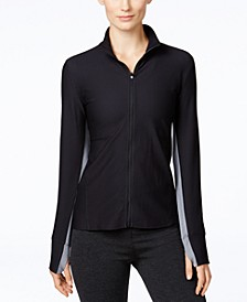 Honeycomb Zip-Front Jacket