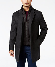 Michael Kors Men's Water-Resistant Slim-Fit Overcoat with Zip-Out Liner