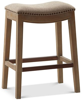 Eliane Saddle Counter Stool Quick Ship Furniture Macy S