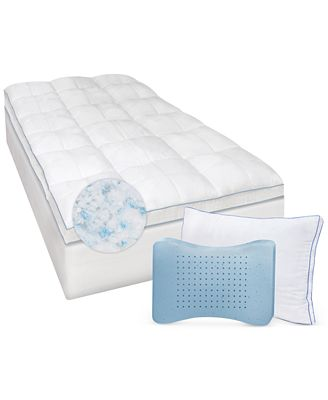 Sensorgel Gel Infused Twin Xl Memory Foam And Fiber Mattress Topper