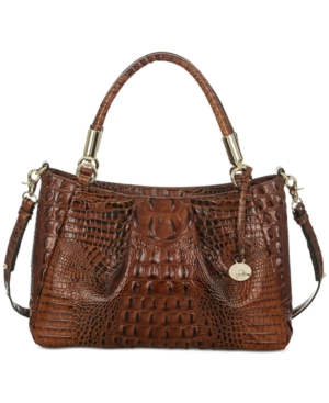 Image of Brahmin Ruby Melbourne Embossed Leather Satchel, Only at Macy's/Exclusive to Macy's