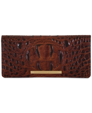 Image of Brahmin Ady Melbourne Croc Embossed Leather Wallet