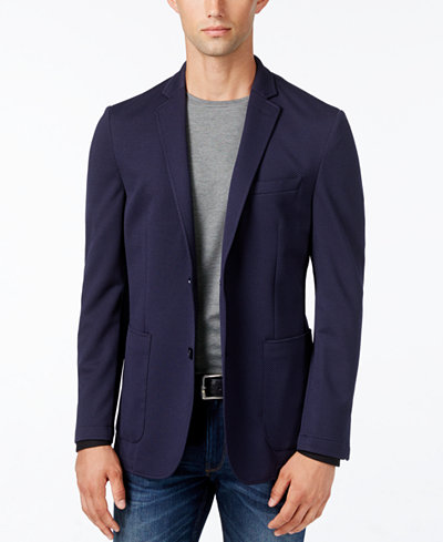 Vince Camuto Men's Mesh Slim-Fit Blazer - Blazers & Sport Coats ...