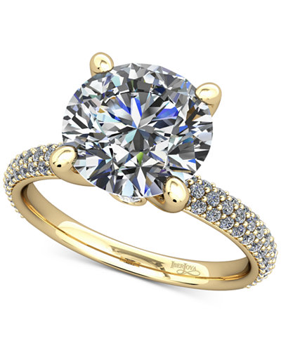 Diamond Pavé Mount Setting (1/2 ct. t.w.) in 14k Gold