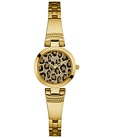 GUESS Women's Gold-Tone Stainless Steel Bracelet  Watch 25mm U0890L3