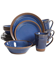 Gibson Elite Brynn Cobalt 16-Piece Dinnerware Set