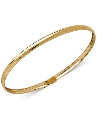 Macy S Children S Flex Bangle Bracelet In 14k Gold Bracelets