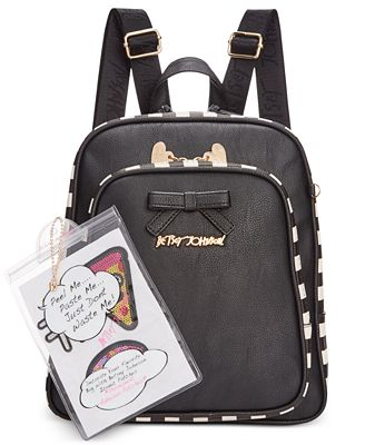 Betsey Johnson Mini Backpack with Patches