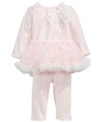 Image of First Impressions 2-Pc. Tutu Top & Leggings Set, Baby Girls (0-24 months), Only at Macy's