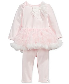 Baby Girls 2-Pc. Tutu Top & Leggings Set, Created for Macy's