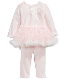 First Impressions Baby Girls 2-Pc. Tutu Top & Leggings Set, Created for Macy's