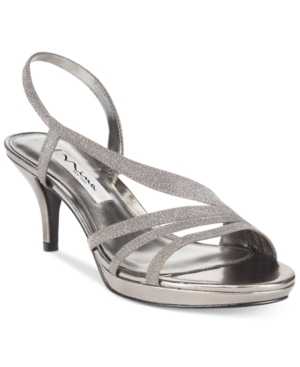 Nina Neely Asymmetircal Evening Sandals Women's Shoes