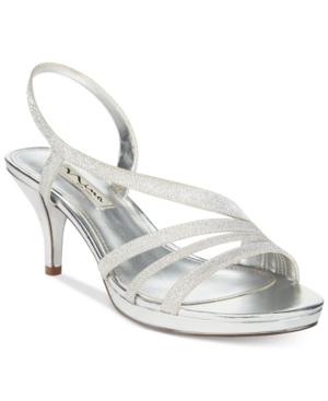 Nina Neely Asymmetircal Evening Sandals Women's Shoes
