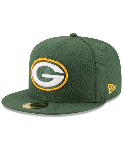 New Era Green Bay Packers Team Basic 59FIFTY Fitted Cap - Sports Fan ... 77eab26d6