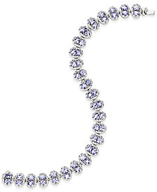 Tanzanite Tennis Bracelet (10 ct. t.w.) in Sterling Silver, Created for Macy's