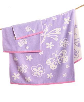 Kids' Kassa Butterfly Bath Towel