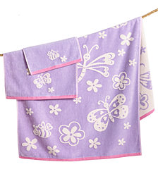 Kassatex Kids' Kassa Butterfly Bath Towel