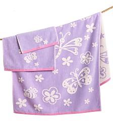 Cassadecor 100% Cotton Velour Mariposa Fingertip Towel