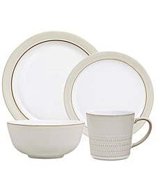 Natural Canvas Dinnerware Collection 16-Pc. Dinnerware Set, Service for 4