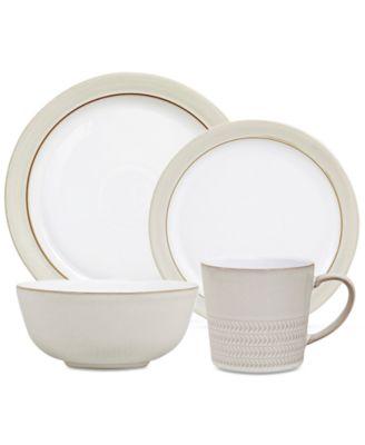 main image ...  sc 1 st  Macy\u0027s & Denby Natural Canvas Dinnerware Collection 16-Pc. Dinnerware Set ...