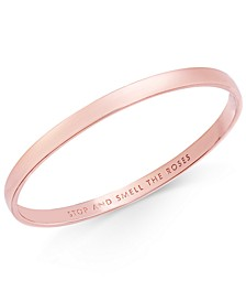 Rose Gold-Tone Engraved Idiom Bracelet