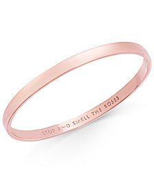 kate spade new york Rose Gold-Tone Engraved Idiom Bracelet