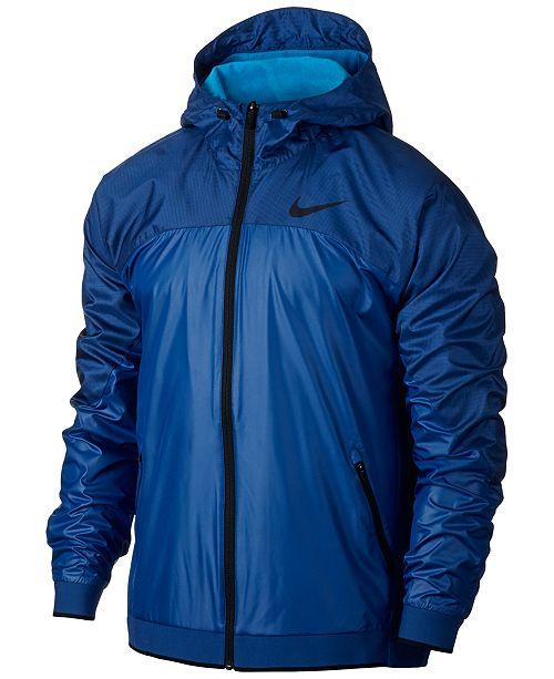 b6a680ff3b78 Nike Men s Dri-FIT Hooded Training Jacket   Reviews - Coats ...