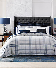 CLOSEOUT! Tommy Hilfiger Carraway Plaid Bedding Collection