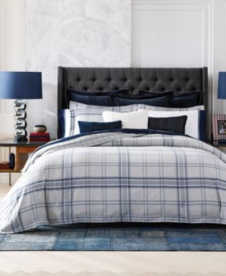 tommy hilfiger carraway plaid bedding collection