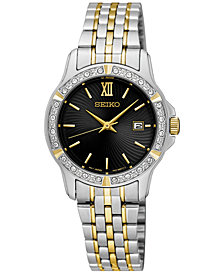 Seiko Women's Special Value Two-Tone Stainless Steel Bracelet Watch 28mm SUR730