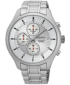 LIMITED EDITION Seiko Men's Chronograph Special Value Stainless Steel Bracelet Watch 43mm SKS535