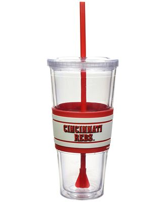 Boelter Brands Cincinnati Reds 22 oz. Hyped Straw Tumbler