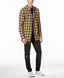 Jaywalker Men's  Zip-Back Button-Up Shirt, Curved Hem T-Shirt & Moto Pants, Created for Macy's