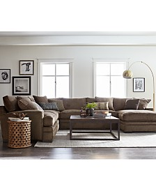 Teddy Fabric Sectional Collection Created For Macy S