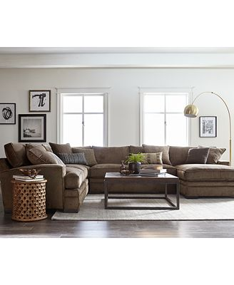 fabric living room furniture closeout teddy fabric sectional collection created for 15903
