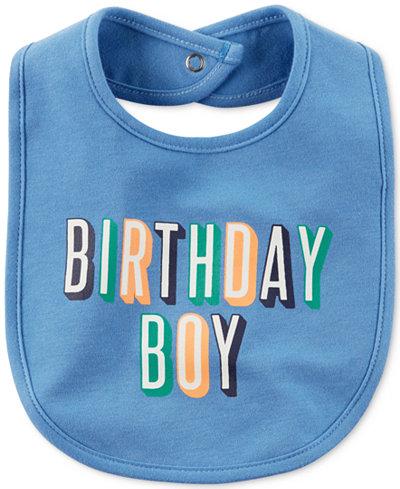 Carter's Birthday Boy Cotton Bib, Baby Boys