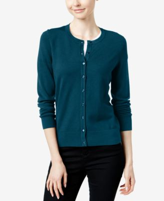 Image of Charter Club Crew-Neck Cardigan, Only at Macy's