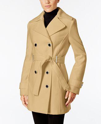 Calvin Klein Double-Breasted Belted Walker Coat