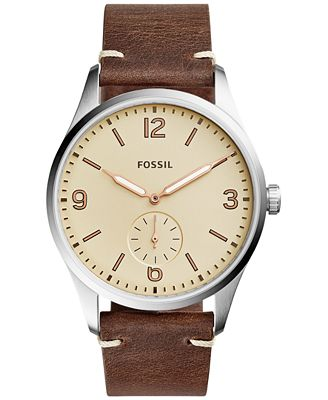 fossil s vintage 54 brown leather 42mm