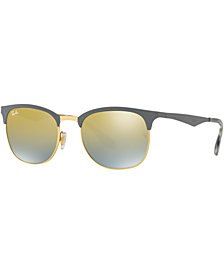 Ray-Ban CLUBMASTER GRADIENT MIRRORED Sunglasses, RB3538 53