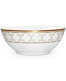 Trefolio Gold Dinnerware Collection Round Vegetable Bowl
