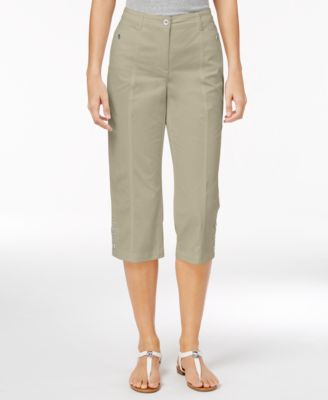 Image of Karen Scott Button-Hem Capris, Only at Macy's