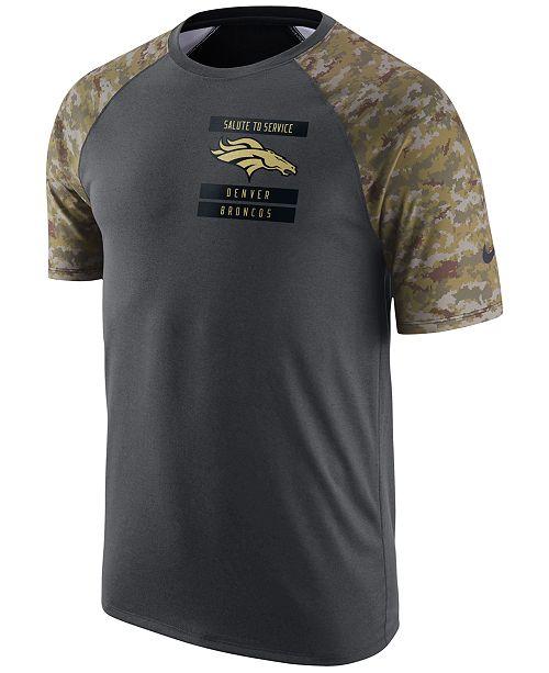 Nike Men s Denver Broncos Salute to Service T-Shirt - Sports Fan ... 6be08e0d0