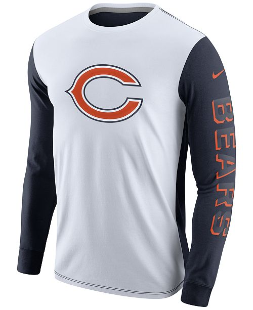 purchase cheap 7f768 b6c27 Nike Men's Chicago Bears Champ Drive 2.0 Long Sleeve T-Shirt ...