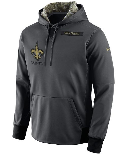 sports shoes 0d254 fdbbe Nike Men's New Orleans Saints Salute to Service Hoodie ...