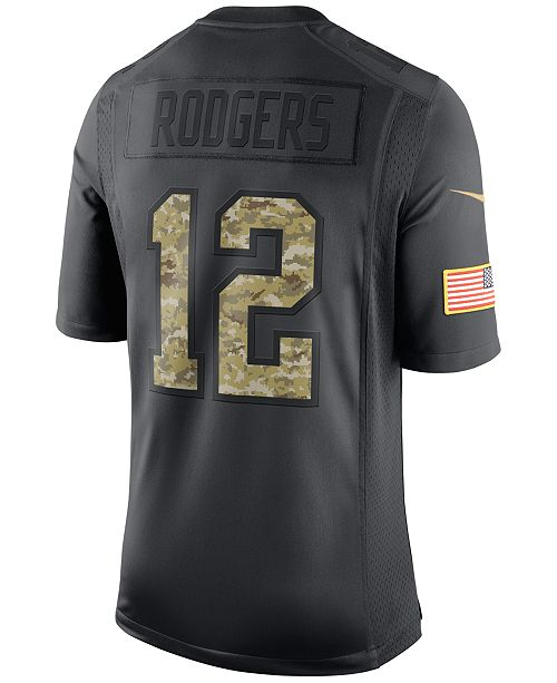 timeless design 1af0d be161 Nike Men's Aaron Rodgers Green Bay Packers Salute to Service ...