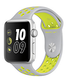 Apple Watch Nike+ 42mm Silver-Tone Aluminum Case with Flat Silver-Tone/Volt Nike Sport Band