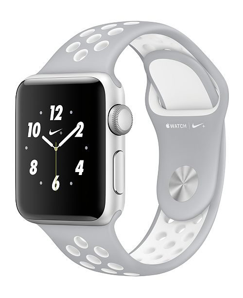 Apple Watch Nike+ 38mm Silver-Tone Aluminum Case with Silver/White Nike Sport Band