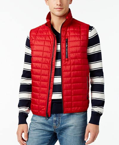 Tommy Hilfiger Men's Metallic Insulator Quilted Vest